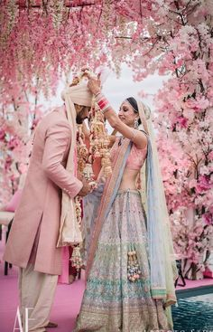 Dreamy Bridal Lehenga every bride-to-be Dreams of you! Indian Wedding Gowns, Muslim Wedding Dresses, Indian Bridal Outfits, Indian Bridal Lehenga, Indian Bridal Wear, Desi Wedding, Red Lehenga, Pink Bridal Lehenga, Asian Bridal
