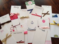 Personalized Notepads For anyone...makes the perfect gift... #notepads #etsy #stationery http://etsy.me/1cKVuNC