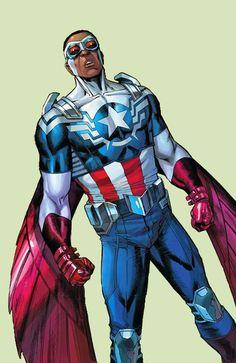 Captain America (Sam Wilson) by Carlos Pacheco