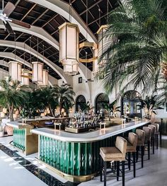 """76 Likes, 3 Comments - Sheri Culver Design (@shericulver) on Instagram: """"This is one of the prettiest bars I have ever seen. #surfclub #fourseasons #greenwithenvy #green…"""""""