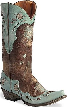 Womens Old Gringo Boot Bonnie in Vintage Brass/Turquoise