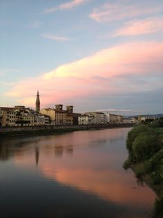 Arno river, Florence, Italy at dusk Italy