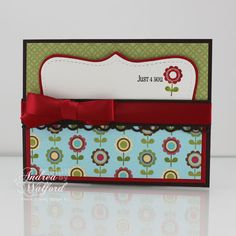 How To Create a Pocket Card Featuring Stampin' Up!'s Play Date DP by Andrea Walford