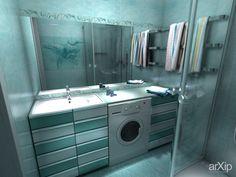 """Сан узел """"Голубая лагуна"""": интерьер, квартира, дом, санузел, ванная, туалет, современный, модернизм, 10 - 20 м2 #interiordesign #apartment #house #wc #bathroom #toilet #modern #10_20m2 arXip.com"""
