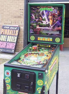 "Data East ""Teenage Mutant Ninja Turtles"" pinball machine"