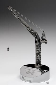 Commercial Radio Australia Awards bespoke award design made by Design Awards #custommade #trophy