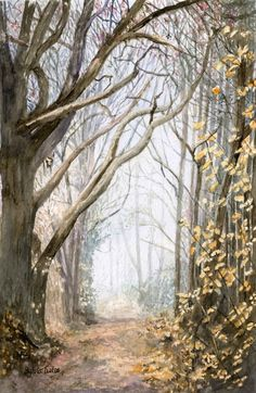 Morning Mist.. A  watercolour by Sylvia Twiss