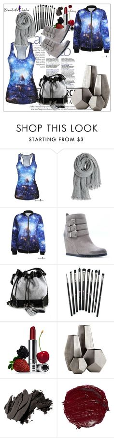 """""""Beautifulhalo21"""" by melodibrown ❤ liked on Polyvore featuring Calypso St. Barth, Qupid, Carianne Moore, Revolution, Clinique, Cyan Design, Bobbi Brown Cosmetics and bhalo"""