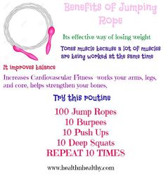 Benefits of jumping rope Jump rope routine