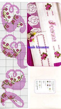 Anaide Вышивка крестом: Графика в вышивки крестом для листов.