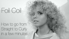 How to make naturally straight hair look very curly in just a few minutes.