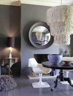 The Glam Lamb: Dark Walls and Light Furniture