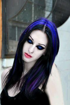 Electric Blue & Black hair & makeup  Miss my long hair!!!