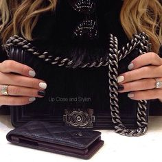 .@upcloseandstylish | Up Close and today -  #Chanel 'Boy bag'  and iPhone case/cardholder (took out...