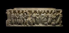 Sarcophagus from Astorga, Rome, ca 310 A. Roman Sculpture, Sculpture Art, Sculptures, Roman Artifacts, Stone Texture, Ancient Rome, Roman Empire, Archaeology, Medieval