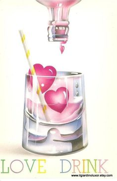 Fantastic 80s Vintage Postcard- Blow a wish in 80's style
