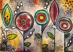 Tracy Scott Doodles #decoartprojects #decoartmedia #mixedmedia