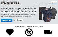 女性がOK!といった服を毎月送ってくれる『BOMBFELL』