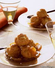 Caramelized Pear Slices, would go nicely with Bree