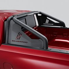 Create a rugged offroad appearance for your Next Generation Silverado 1500 with this Black Sport Bar Package with Silverado Script logo This Chevrolet Chevrolet Silverado 1500, Silverado Truck, Chevy Trucks, Pickup Trucks, General Motors, Truck Accesories, Pick Up, Truck Covers, Truck Decals