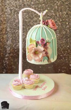 Anti Gravity Cake, Gravity Defying Cake, Gorgeous Cakes, Amazing Cakes, Fondant Cakes, Cupcake Cakes, Bird Cage Cake, Cake Structure, Bird Cakes