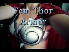 How to Make Female Thor's Breastplate - YouTube