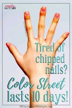 Raise your hand if nothing annoys you like a chip in the nails you just had done? It drives me crazy! That's why I love Color Street. These real polish strips feature a base coat, color, and topcoat in one application. They last ten days or more and it's just 10 minutes to do all your nails! Join my Insider Group to find out more!