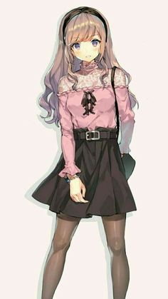 Styling tips Designer clothing anime, Designer cloth. - Styling tips Designer clothing anime, Designer clothing for kids, Desig - Kawaii Anime Girl, Manga Kawaii, Cool Anime Girl, Chica Anime Manga, Pretty Anime Girl, Beautiful Anime Girl, Anime Art Girl, Anime Chibi, Anime Girls