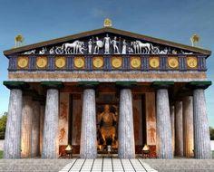 Temple of Zeus Ancient Greek Art, Ancient Rome, Ancient Greece, Ancient Greek Architecture, Historical Architecture, Art And Architecture, Classical Greece, Classical Antiquity, Greece Art