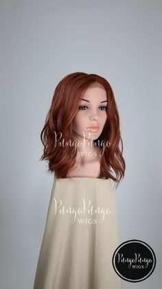 Bright Auburn Red Wig /Wavy Lace Front Wig + Center Part/ Medium Long Halloween Costume Black Widow Cosplay Ginny Weasley /Lady Series ht by PungoPungo on Etsy