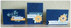 Flower Sparkle: A Trio Of Flourishing Phrases Thank You Cards
