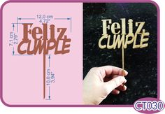 Cake topper Feliz Cumple. -Pedidos/Inquiries to: crearcjs@gmail.com