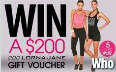 Win a $200 Lorna Jane Gift Voucher