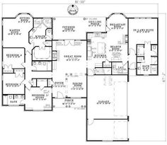 Your in-laws will truly appreciate their private suite in this house plan. The in-law suite, featuring a bathroom with all the amenities, is located on on...