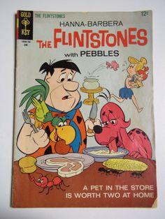 Gold Key Comics Hanna Barbera The Flintstones With Pebbles No. 40 June 1967 Vintage Comic Book