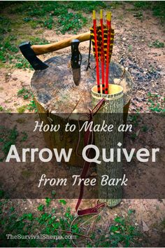 How to Make an Arrow Quiver from Tree Bark - TheSurvivalSherpa.com