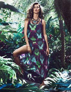 Жизель Бюндхен шипит в H & M Summer 2014 кампании   Fab Fashion Fix