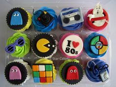 80's themed cupcakes by C Star Cakes #cstarcakes