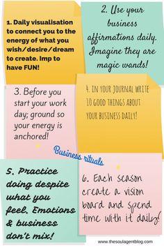 6 Business Rituals