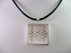 """1 Corinthians 13 """"Love is..."""" Bible Verse Scripture Glass Necklace Pendant <3"""