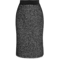 Dolce & Gabbana Tweed pencil skirt ($655) ❤ liked on Polyvore featuring skirts, dolce & gabbana, pencil skirt, skirts - grey, houndstooth skirt, grey skirt, grey pencil skirt and gray skirt