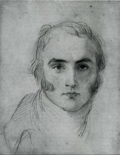 more unfinished portraiture....  Art - Drawing - by Sir Thomas Lawrence, 1790's {Self-Portrait}