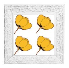 Cross stitch pattern Pop Art style buttercups £2.40 by CraftwithCartwright on Etsy