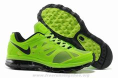 Nike Air Max 2012 487982-301 Mens Electric Green Black White Fre