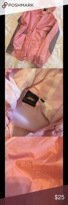 Pink Hooded Jacket / Alaska Prairie Mountain pink and grey windbreaker jacket from Alaska. Prairie Mountain Jackets & Coats