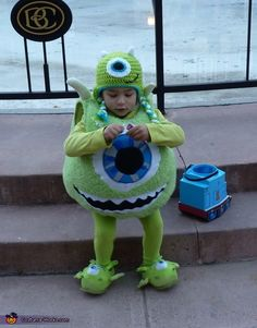 Prudence: My son is wearing the costume. He has always loved Monsters Inc. and the store bought ones were not very good, so I decided to make the costume. I used...