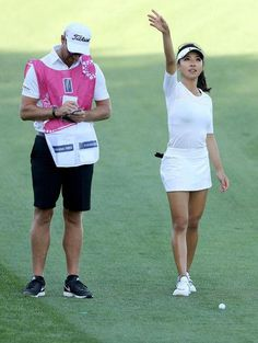 be0939a675cad5 Muni He Photos - Muni He of China with her caddie Stephen Deane of Northern  Ireland