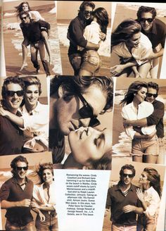 Cindy Crawford and Richard Gere by Herb Ritts for Vogue US November 1992