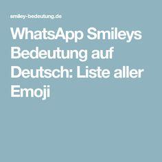 WhatsApp Smileys Bedeutung auf Deutsch: Liste aller Emoji