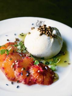 Burrata With Blood Orange: Make One of Yotam Ottolenghi's Most Popular Dishes Yotam Ottolenghi, Ottolenghi Recipes, Citrus Recipes, Orange Recipes, Healthy Recipes, Cod Recipes, Chickpea Recipes, Carrot Recipes, Cabbage Recipes